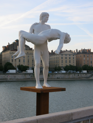 Elmgreen & Dragset, The Weight of One Self, Rives de Saône